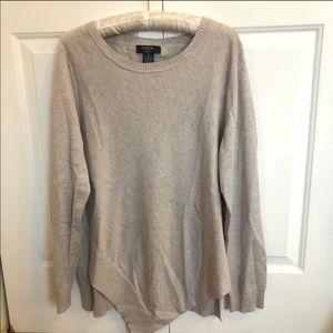 Verve ami Long sleeve asymmetrical beige sweater